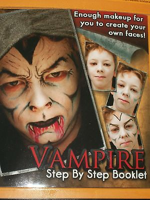 Halloween Vampire Face Painting Kit Costume Makeup Theater Stage Dracula Gothic