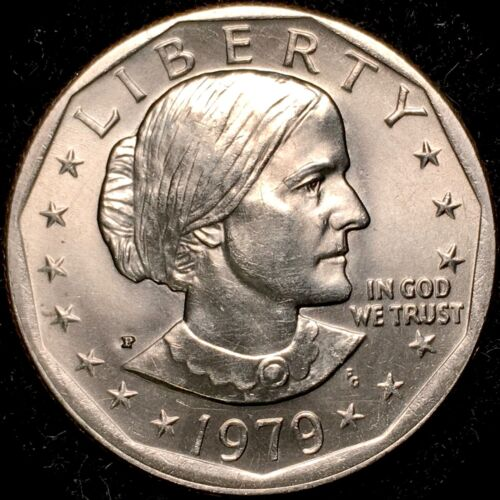 1979-P Susan B Anthony Dollar WIDE RIM NEAR DATE VARIETY COIN