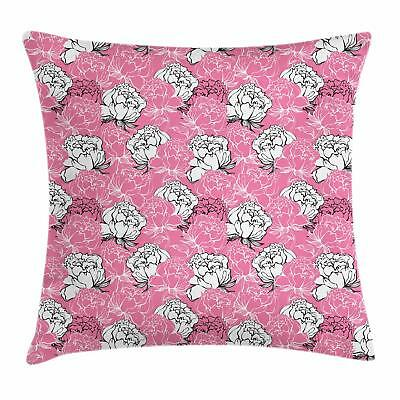 Pink and White Throw Pillow Cases Cushion Covers by Ambesonn