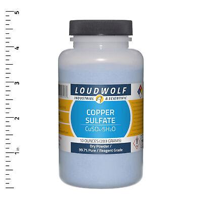 Copper Sulfate 10 Oz Reagent Grade Dry Powder Usa Seller