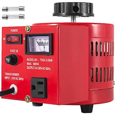 Variac Transformer Variable Ac Voltage Regulator 500va 60hz Copper Coil 0130v