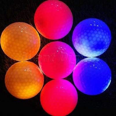 New 4pcs LED Flashing Golf Balls Night Light Glow Tracker Outdoor Sports Golfing - Flashing Golf Balls
