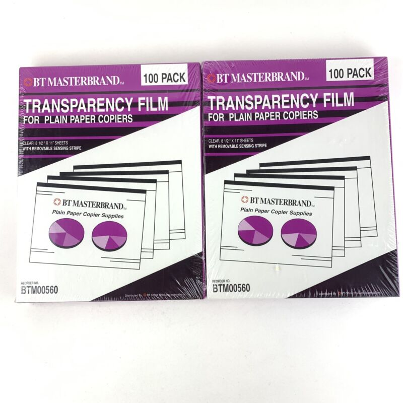 BT Masterbrand BTM00560 Transparency Film for Plain Paper Copiers 2 Packs