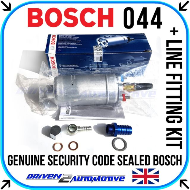 NEW GENUINE BOSCH 044 FUEL PUMP WITH LINE FITTING KIT ON SALE