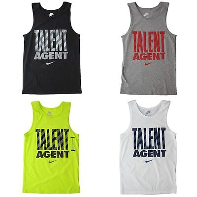 Nike Tank Tops Men's Sleeveless Tee Talent Agent Gym Workout Top Shirt 611952 Nike Workout Shirts
