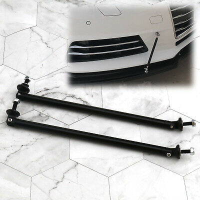 2pcs Black 200mm Adjustable Front Rear Bumper Lip Splitter Rod Bar Support