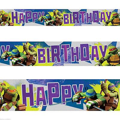 Teenage Mutant Ninja Turtles TMNT Birthday Party Foil Banner Decoration 4.5m (Tmnt Birthday Banner)