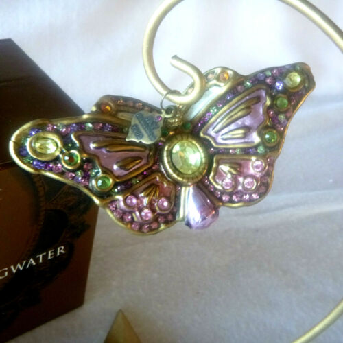 2002 Jay Strongwater Butterfly Ornament with Swarovski Crystals + Box