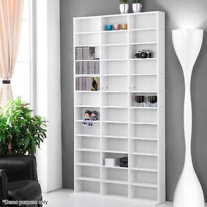 1116 CD Storage Shelf Bookcase Rack DVD Media Video Game Tower Stand Shelving
