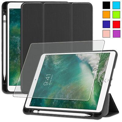 iPad 9.7 2017 / 2018 Schutzhülle mit Pen Halter und Auto Schlaf/Wach Case +Folie