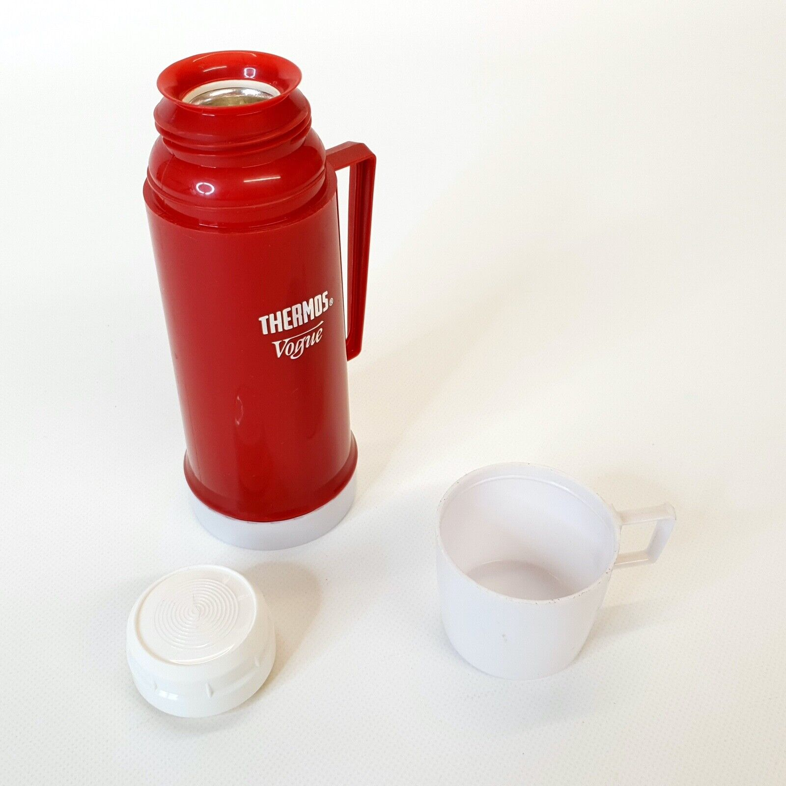 Vintage Thermos Vacuum Flask Vogue 0.23L Red ~ Retro Camping ~ Picnic ~ Classic