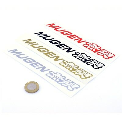 Mugen Sticker Car Cut Vinyl Decals 150mm x2 JDM Drift Tuning VTEC W