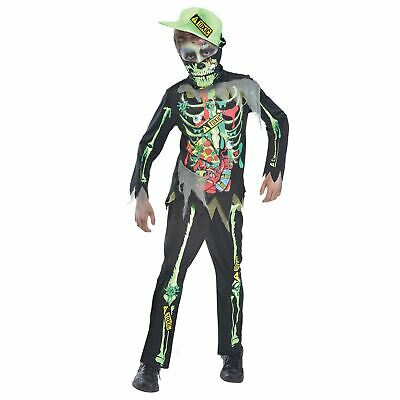 Dead Gangster Halloween Costumes (Gangster Day of the Dead Boys Toxic Waste Zombie Skeleton Fancy Dress)