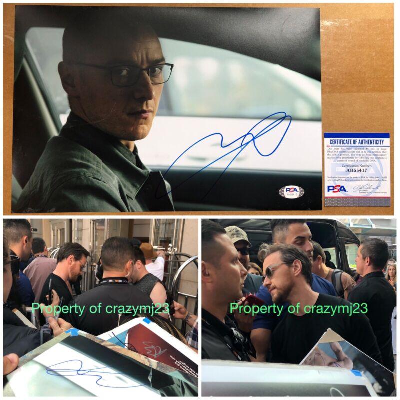 James McAvoy Signed Split Glass Professor Charles Xavier Autograph Proof PSA COA