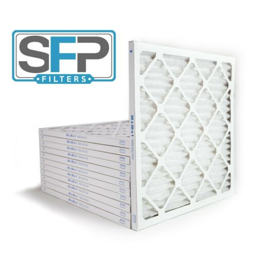 20x20x1 Merv 8 Pleated AC Furnace Filters. Case of 12 Made in the USA