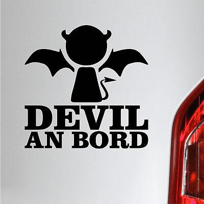 Devil an Bord Aufkleber Fun Baby an Bord Autoaufkleber