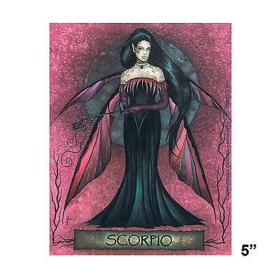STICKER - Jessica Galbreth Fairy Scorpio Horoscope Astrology Zodiac SD38