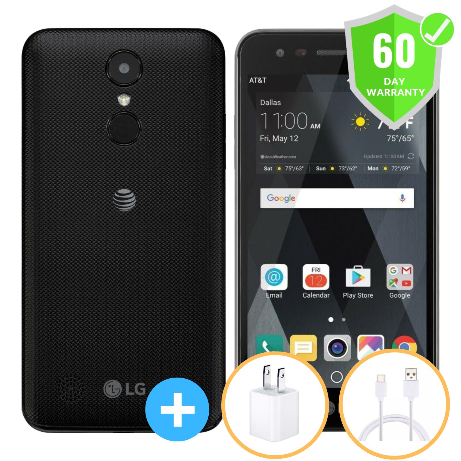 Android Phone - LG Phoenix 3 M150 - 16 GB - Black (Unlocked) Smartphone