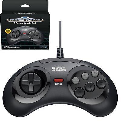 Mando Sega Megadrive negro licenciado Sega Retro-bit