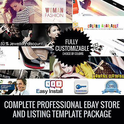 eBay Professional Custom Design Auction Listing/Store Template Complete package
