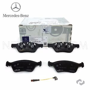 Mercedes Front Brake Pads Set U0026 Sensor Kit Genuine W164 ML W211 E W251 R  X164 GL (Fits: Mercedes Benz)