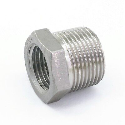 34 Bsp Male To 12 Bsp Female 304 Stainless Steel Reducer Pipe Fitting