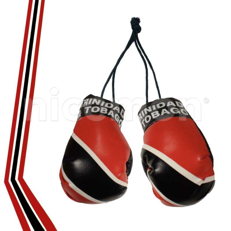 "Trinidad Tobago  Boxing Gloves Flag Car Rearview Ornament Trini Flag Culture 4"""