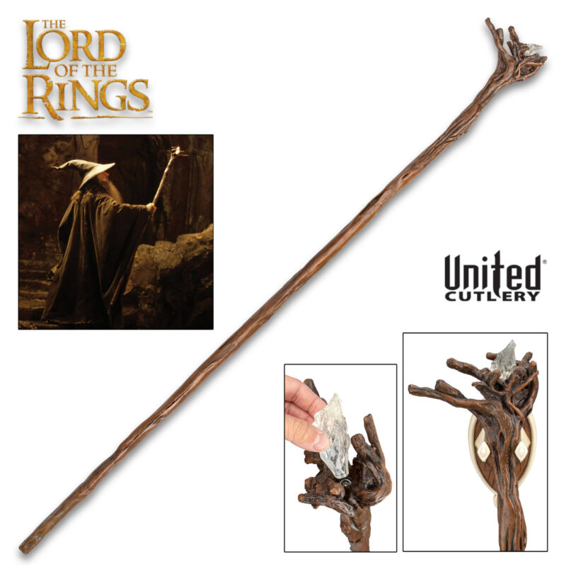 "66"" Mines of Moria Staff Of Gandalf LIFESIZE United Cutlery OFFICIALLY LISCENSED"