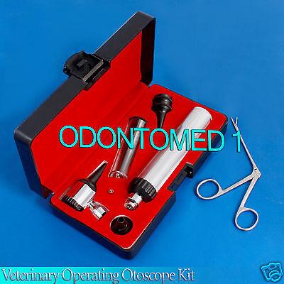 Brand New Led Lense Veterinarysurgical Operating Otoscope Kit