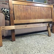 Wooden Double bed with mattress Plumpton Blacktown Area Preview
