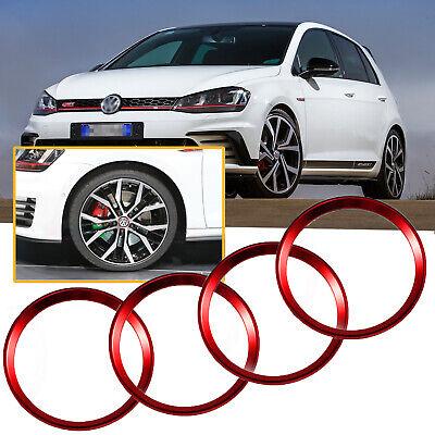 4x Aluminum Wheel Center Cap Hub Rings For Volkswagen Beetle GTI Golf Jetta etc