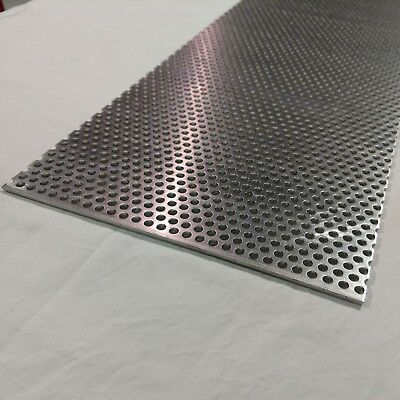 Perforated Metal Aluminum Sheet .125 18 Gauge 12 X 36 14 Hole 38 Stagger