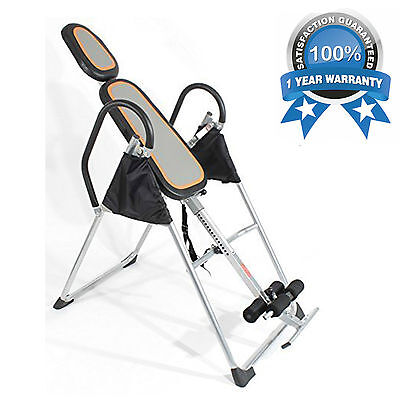 NEW Exercise PRO INVERSION TABLE Invert Align Bench HANG THERAPY Pain Relief