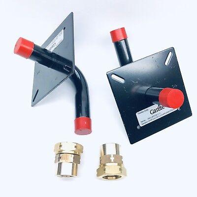 Lot Of 2 Titeflex Gastite Xr3-l-apstub-11-11 Apls Stubout 34npt X 34csst 2-14