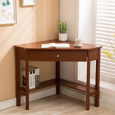 Wood Corner Computer Desk Laptop Workstation Consoletable Home Furniture