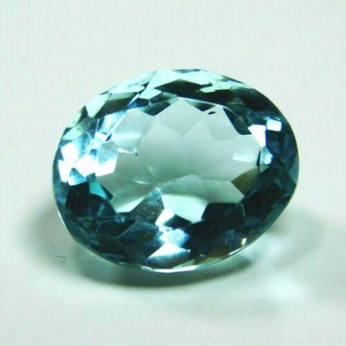 Natural Blue Aquamarine Oval Cut 7 Ct  Loose Rare Certified Gemstone Free Ship