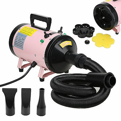 Dog Cat Pet Grooming Hair Dryer Quick Blower Hairdryer Speed Heater 2800W