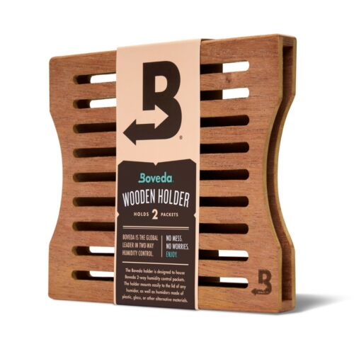 Boveda Wood Holder SxS for Humidor | Use with Two (2) Size 60 Boveda | 1-Count