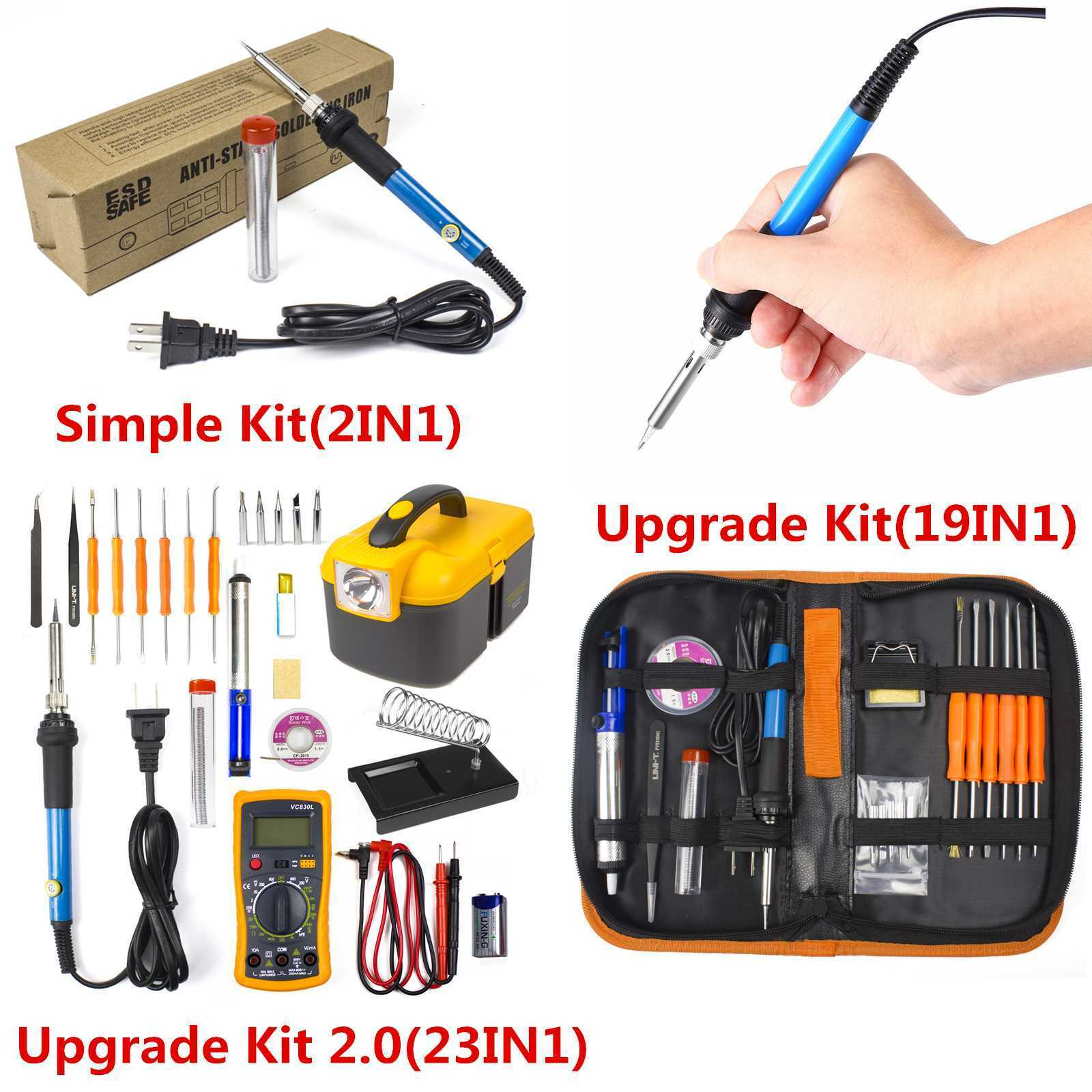 electric soldering iron gun tool kit 110v