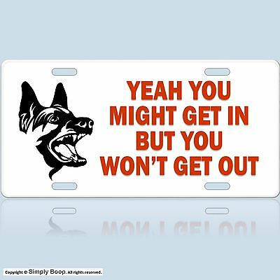 "Beware of Dog Fence Home Sign (s) ""You Might Get In"" DETER BURGLARS / INTRUDERS"
