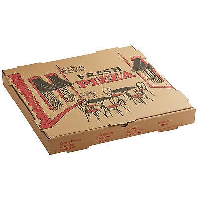 50-pack 18 X 18 X 2 Kraft Square Corrugated Printed Pizza Box