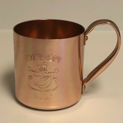 Vintage Smirnoff Moscow Mule Drink Copper Cup Mug Aluminum Barware Bar