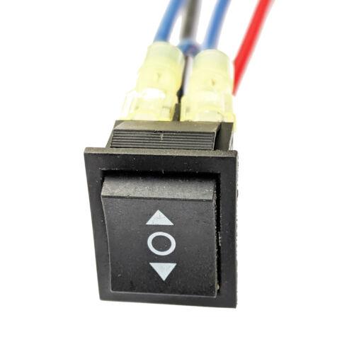 Industec Wired 20 AMP - 12V 24V Motor Polarity Reversing Momentary Switch DPDT