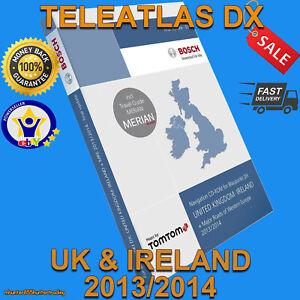 TELEATLAS DX 2014 FOR MERCEDES COMAND 2.0 SAT NAV DISC UK NAVIGATION CD MFD1