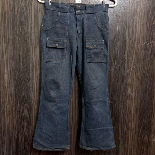 Vintage 70s Levi's Bush Pants 6 Pocket Orange Tab Talon 42 Zipper Jeans Waist 31
