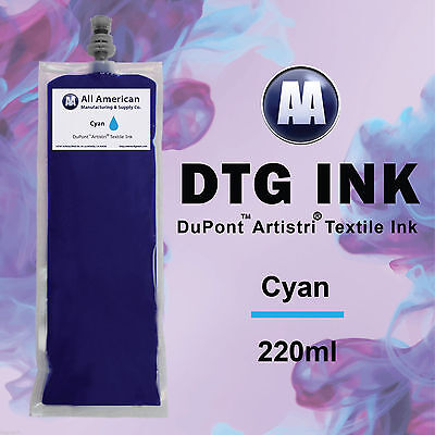 DTG Ink Cyan 220ml Dupont Textile Ink for Direct to Garment Printer Best