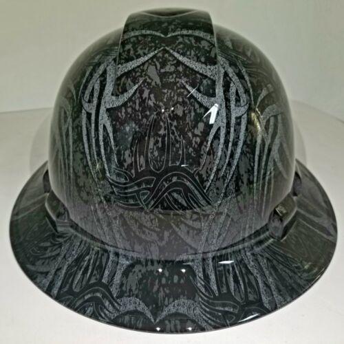 NEW FULL BRIM Hard Hat custom hydro dipped GOLDBERG TRIBAL JACK HAMMER TATTOO 1