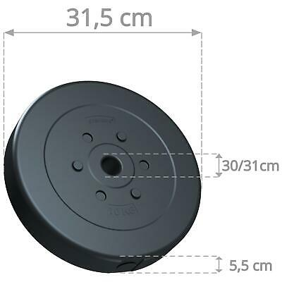 ScSPORTS 20 kg Hantelscheiben Set 2 x 10 kg Hantel Gewichte 30 mm Kunststoff