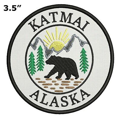 Katmai Alaska National Park Embroidered Patch Iron Sew-On Gear Applique