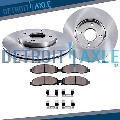 Front Disc Brake Rotors  Ceramic Pads for 2001 2002 2003 2004 2005 Honda Civic